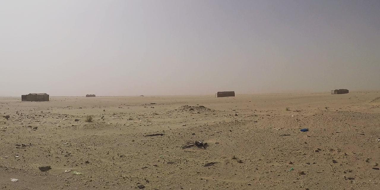casas desierto mauritania pablocaminante - Mauritania 2/5, de Nouadhibou a Nouakchott