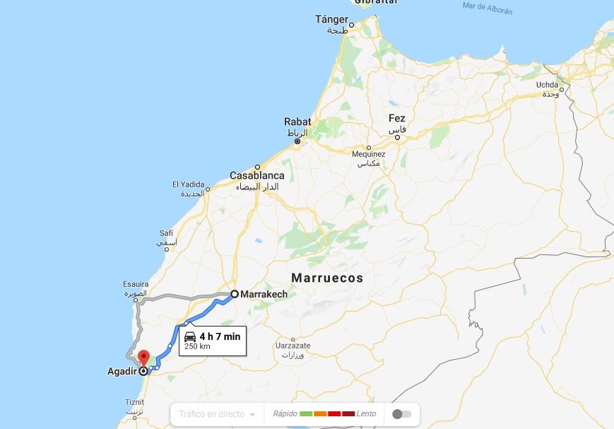 mapa marruecos pablocaminante - Marruecos 1/3, llegada