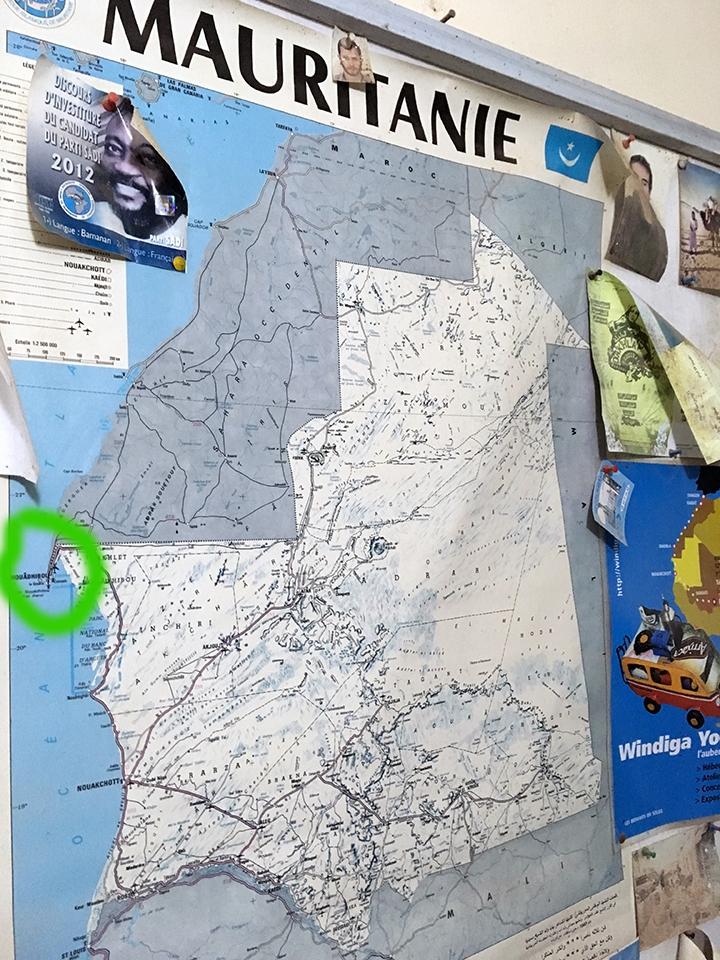 mapa mauritania pablocaminante - Mauritania 1/5, Nouadhibou