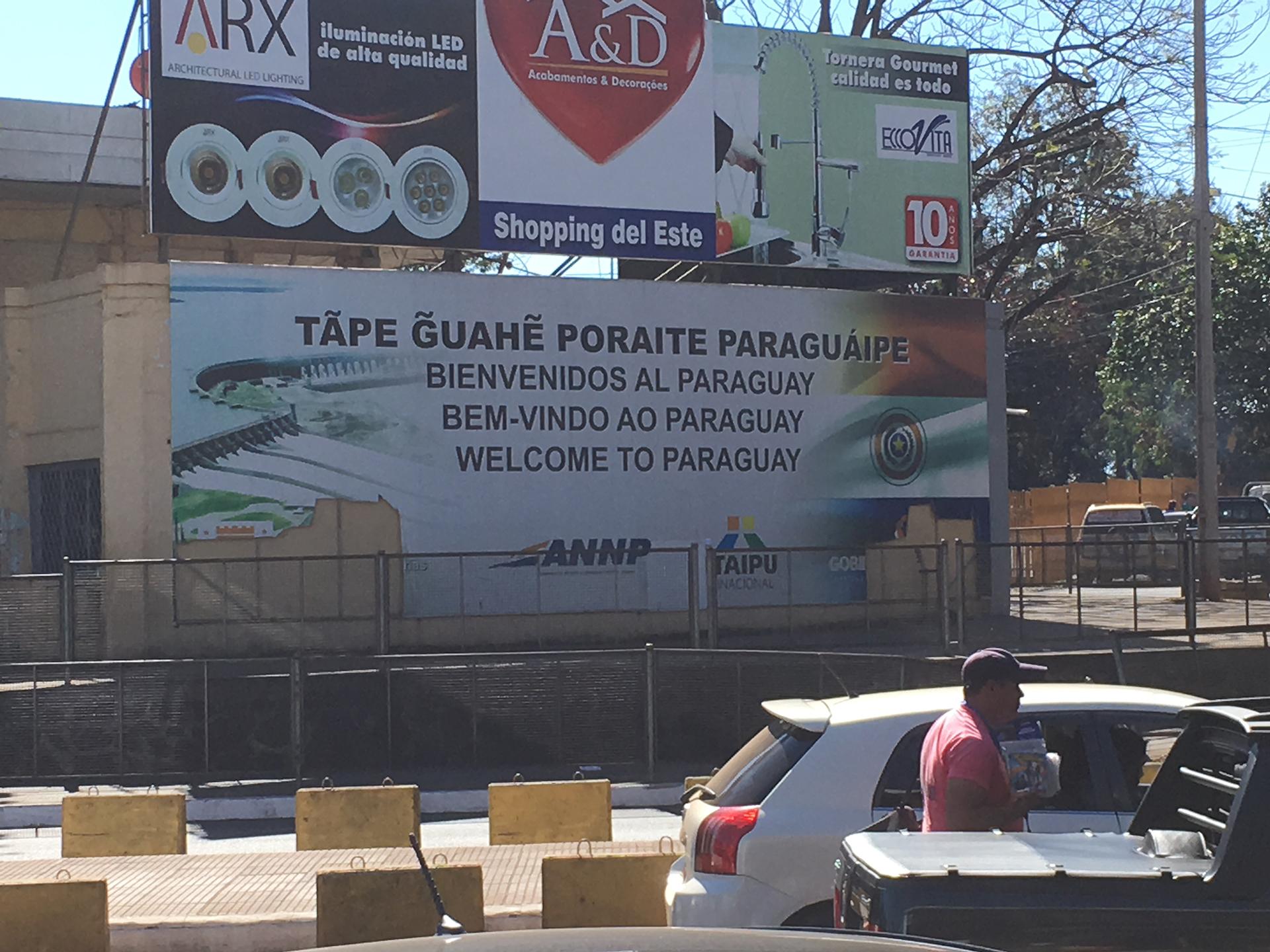 bienvenidos ciudad este  pablocaminante - Paraguay, Ciudad del Este
