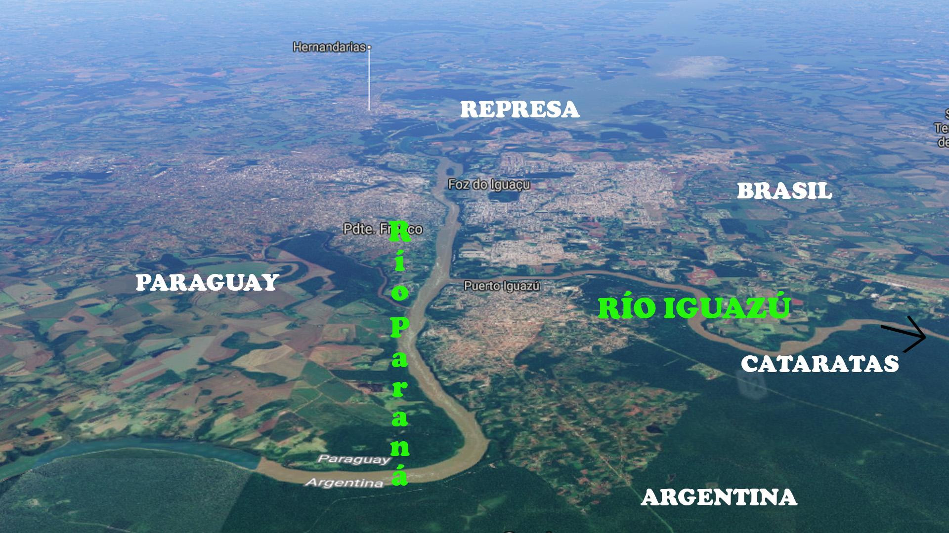 mapa triple frontera pablocaminante - Cataratas del Iguazú