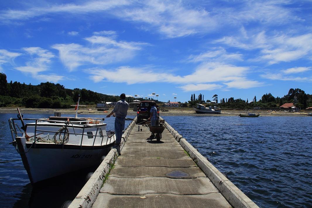 muelle lin lin pablocaminante - Chile, Islas de Chiloé