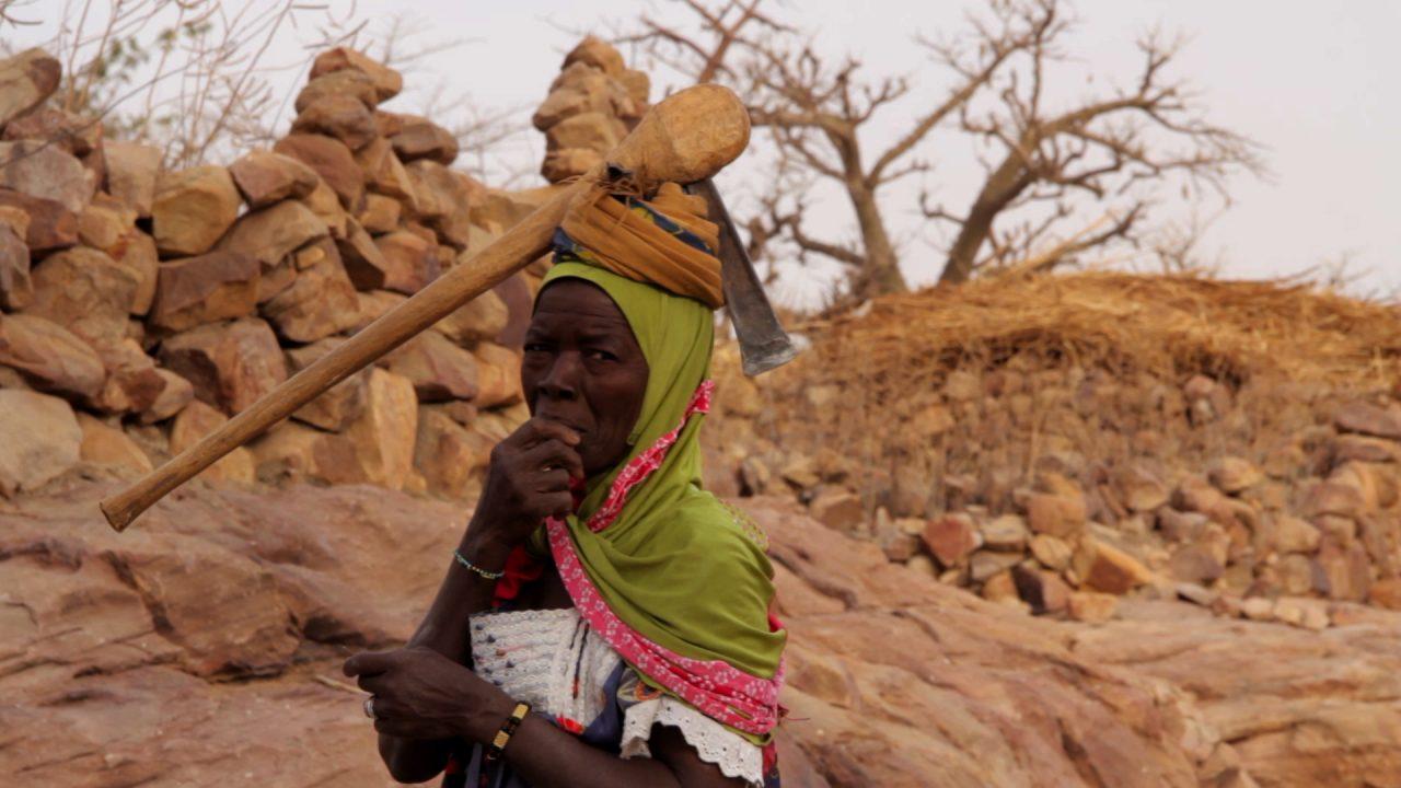mujer hacha cabeza dogon pablocaminante 1280x720 - Malí 6, País Dogon III: Falla de Bandiagara